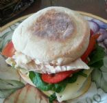 english roasted chicken muffin