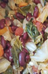 Cabbage Kidney Bean Stew