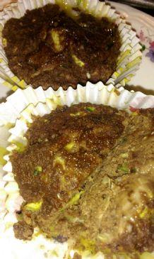 low carb gluten free zucchini chocolate muffins