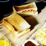 mashed potato sakura-ebi dried shrimp sandwiches