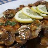 pork scallopine with creamy mushroom sauce