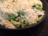 rice with Broccoli Onion and Peppers