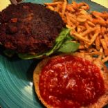 spicy Black bean and corn veggie burger patties