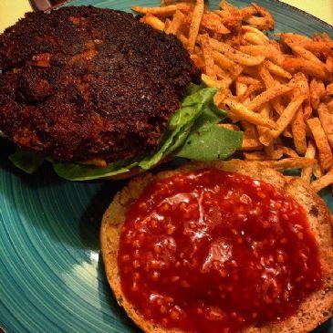 spicy Black bean and corn veggie burger patties