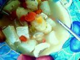 vegan tofu and vegetable soup