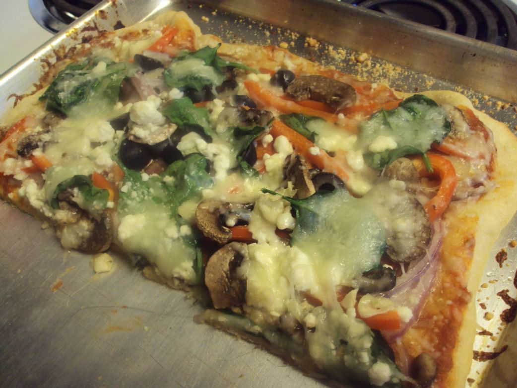 yummy veggie pizza