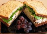 Carol's Chicken Mushroom Grape Salad with Walnuts