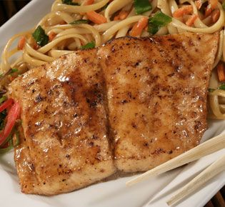Asian Garlic Grilled Salmon
