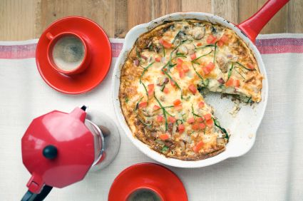 Tomato-Cheese Frittata