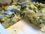 Crustless Onion, Spinach and Broccoli Quiche