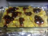 pineapple mango bread pudding