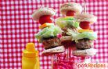 Skinny Cheeseburger Slider Kabobs
