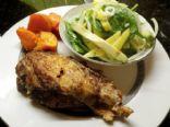 Caribbean Baked Chicken, Sweet Potato & Spicy Mango-Avocado Salad