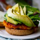 Sweet Potato Veggie Burger w/ Avocado