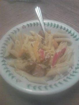 Chicken Italian Sausage with Veggies and Pasta