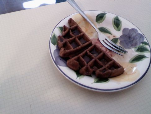 Chocolate Lowfat Waffles