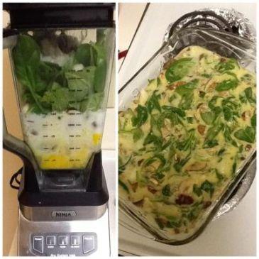 Paleo Mushroom and Spinach Breakfast Quiche