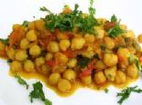 Curried Cabbage and Chickpeas