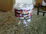 Volumetrics Red White and Blue Trifle
