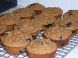 Blueberry Muffins - Whole Wheat, flax, coconut flour