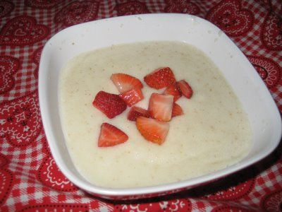10 min cooking farina with milk