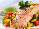 Salmon with Summer Tomato Salsa
