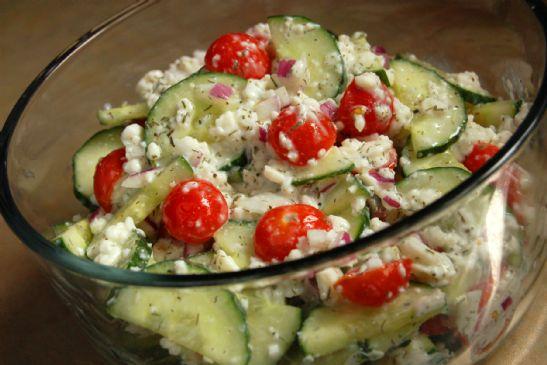 Savoury Cottage Cheese Salad