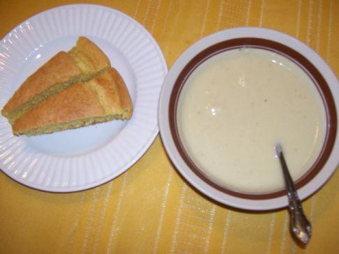 Cauliflower Soymilk Soup