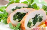 Garlic Spinach Stuffed Chicken