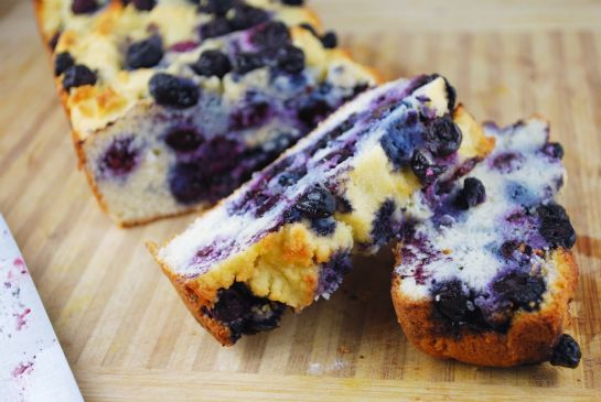 Paleo Blueberry Pound Cake