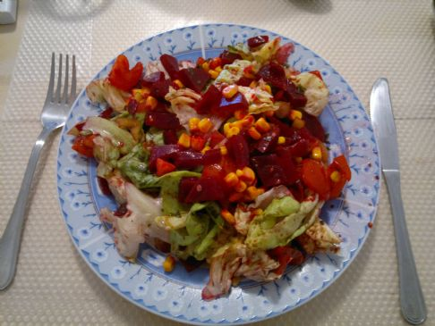 Spring salad of Veronika