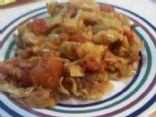 Ground turkey & Cabbage (not lowfat)