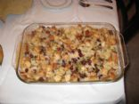 Rustic Stuffing with Apples & Cranberries