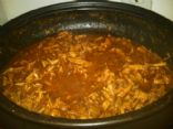 Slow cooked pulled pork loin