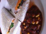 Vegan Sweet Potato, Spinach & Black Bean Quesadilla