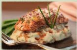 Roast Salmon with Balsamic Honey Wine Reduction -387 cal