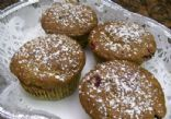 Whole Wheat Banana Muffins with Cranberries & Chocolate