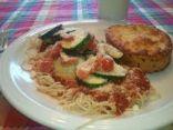 Spaghetti and Roasted Summer Squash