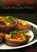 Crispy Potato Skins | Turkey Bacon N Spicy CheezeIt Cheese