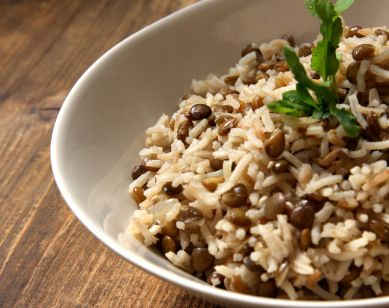 Herb Lentils and Rice