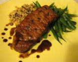 Rosemary Pork Loin Chops with Sweet and Sour Red Wine Sauce