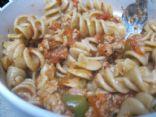 Turkey Sausage Tomato Sauce with Rotini