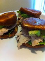 hCG Phase 3 - Turkey & Avocado Oopsie Roll Sliders