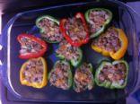 Ground Turkey Stuffed Bell Peppers
