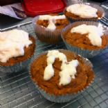 Pumpkin Cranberry Bread Muffins with Creamy Icing