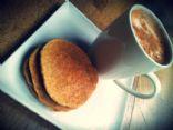 Oat bran cinnamon pancakes (under 100 cal)