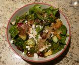 Grape, Melon & Spinch Salad w. Feta & Flax