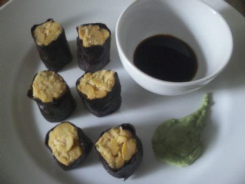 Vegan garbanzo nori rolls