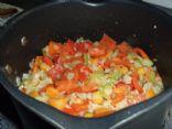 Bell pepper and celery salad (by POPPYKLAPROOSJE)