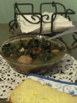 Black Bean and Kale Soup with Turkey Meatballs